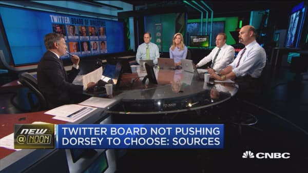 Twitter board not pushing Dorsey to choose: Sources