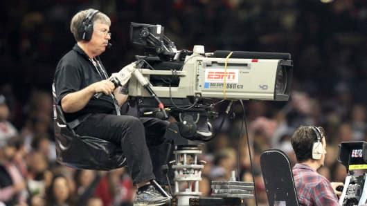 ESPN camera crew