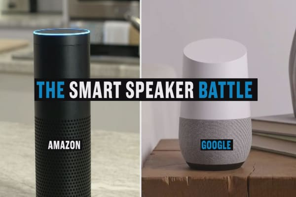 Google Home vs. Amazon Echo: The smart speaker battle.