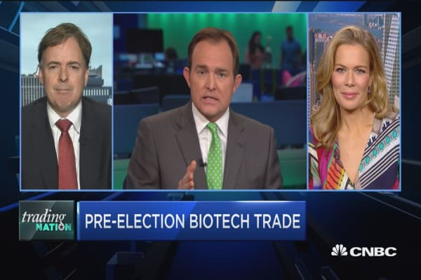 Trading Nation: Biotech ETF surges