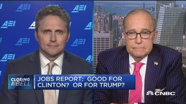 Jobs report: Good for Clinton or Trump?