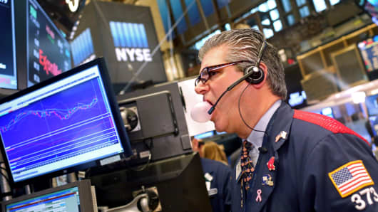 A trader works on the floor of the New York Stock Exchange (NYSE).