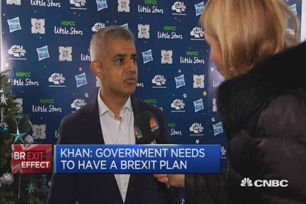 UK government needs to have a Brexit plan: London Mayor
