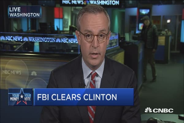 FBI clears Clinton in email review