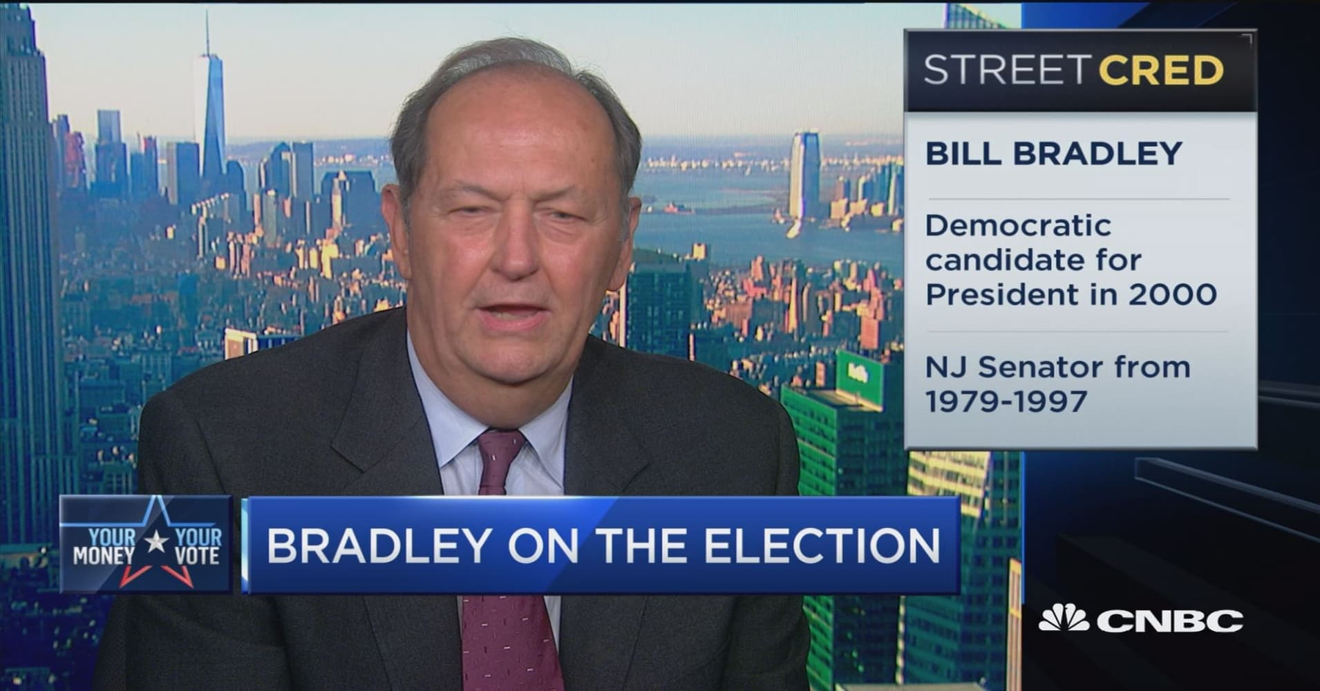 Bill Bradley Vote for someone you can trust with your life