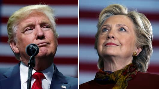 U.S. presidential candidates Donald Trump and Hillary Clinton