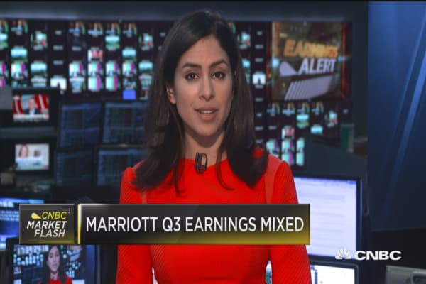Marriott & Hertz plunge, Priceline Group surges