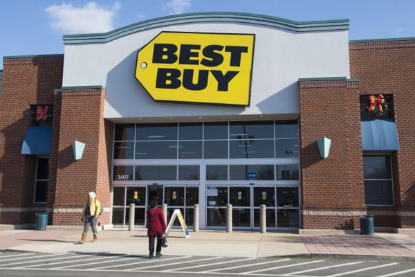 A Best Buy electronics store is seen in Alexandria, Va.