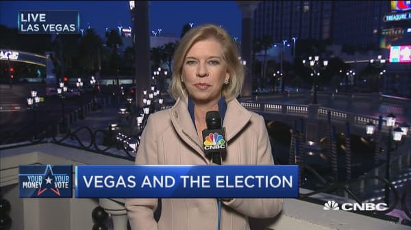 Election odds in Vegas