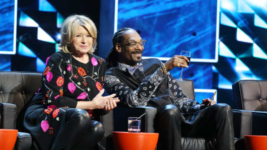 Martha Stewart and Snoop Dogg on March 14th, 2015