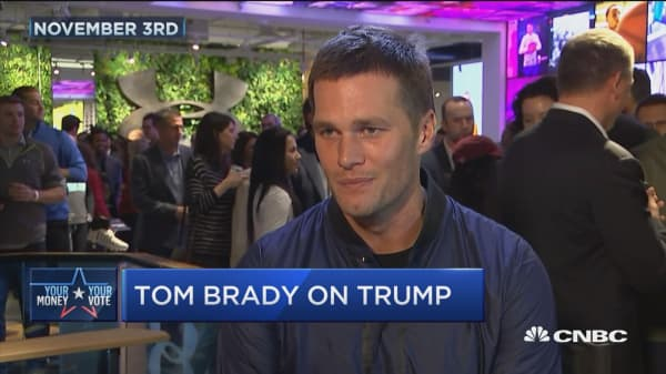 Trump says Tom Brady voted for him