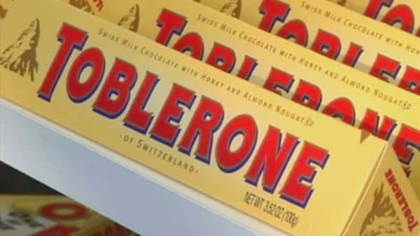 Toblerone changes its triangle shape