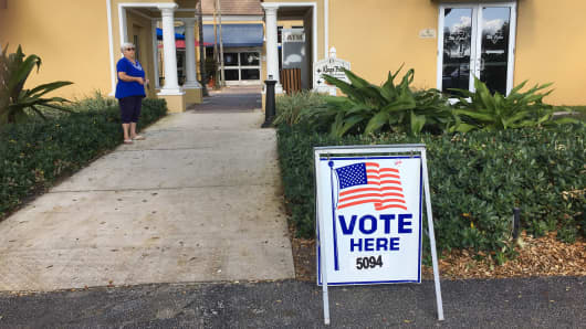 Polling station at Kings Point in Delray Beach, Fla., on Nov. 8, 2016.