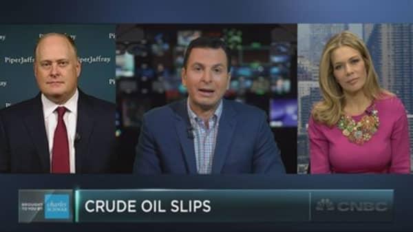 Crude oil sees string of slides