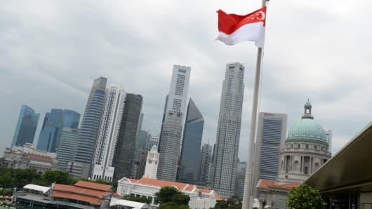 Singapore's financial district