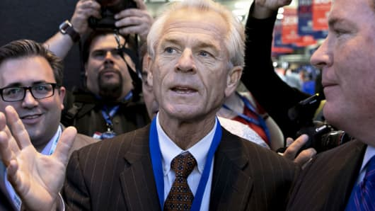 Peter Navarro, senior economic advisor to 2016 Republican Presidential Nominee Donald Trump last September.