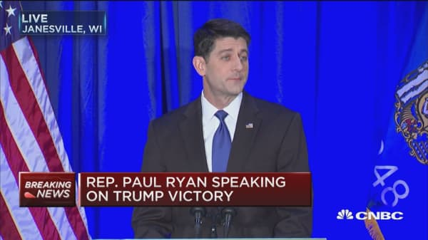 Ryan: Trump will lead unified Republican party