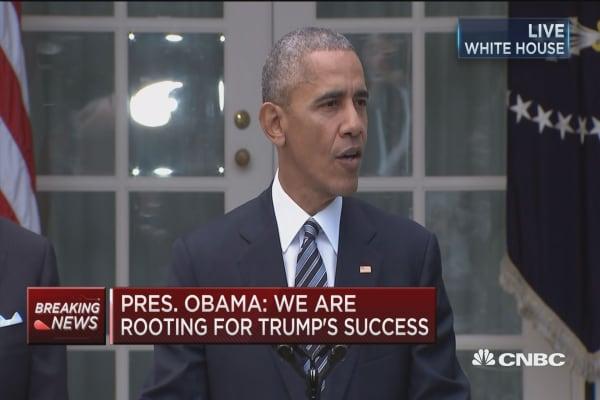 Pres. Obama invites Trump to White House