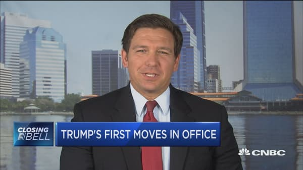 Trump's first moves in office