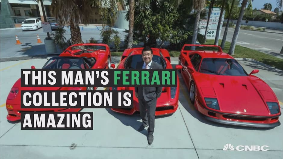 Jay Leno swoons over a man's $12million Ferrari collection