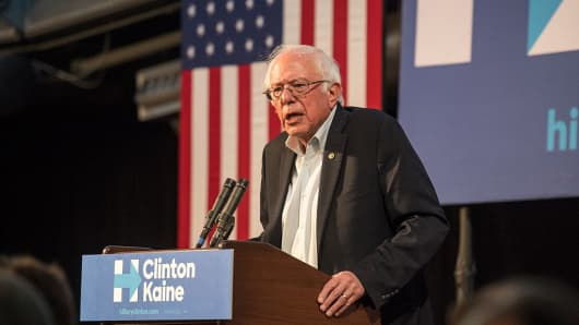 Bernie Sanders at a campaign in Colorado on November 5, 2016.