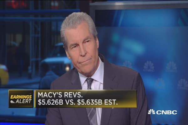 Macy's CEO: Misses Street but 'on track' and raises guidance