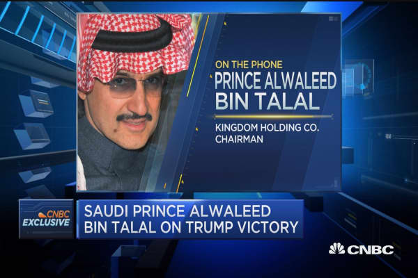 Alwaleed: 'No excuse' for GOP not to deliver on economic growth