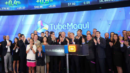 TubeMogul, Inc., an enterprise software company for digital branding, suspension products, opened for trading on The NASDAQ Stock Market on July 18, 2014.