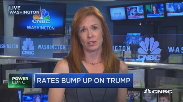 Rates bump on Trump
