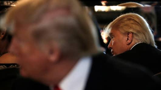 Republican presidential nominee Donald Trump in Las Vegas on Oct. 5, 2016.