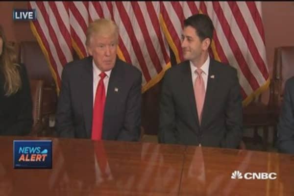 President-elect Trump and Paul Ryan meet