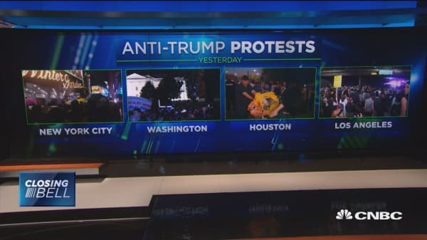 Anti-Trump protests across the country