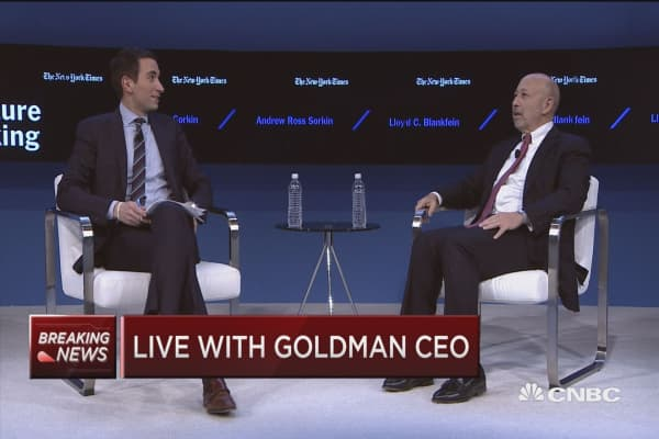Goldman CEO on Trump