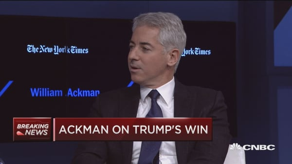 Ackman: U.S. deserves to be run by a business person