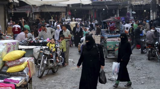 A market in Syria