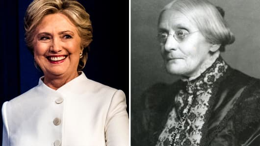 Hillary Clinton and Susan B. Anthony