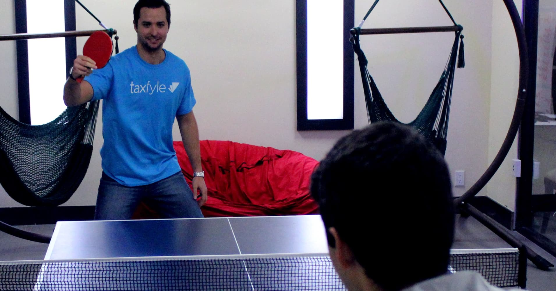 Taxfyle has two ping pong tables in their Miami office.