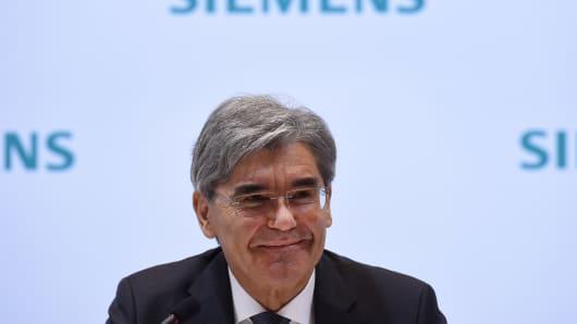 Joe Kaeser, CEO of German industrial giant Siemens