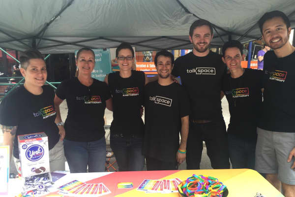 Talkspace team at Brooklyn PRIDE Parade this summer.