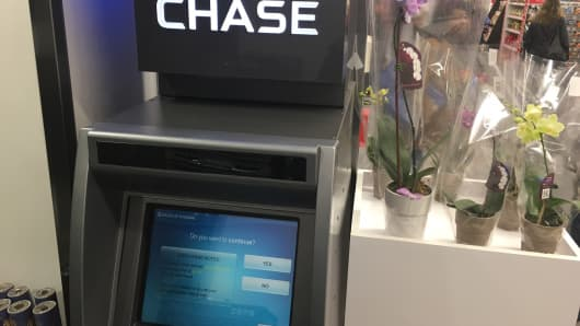A Chase-branded ATM that says it will charge Chase customers a fee for using