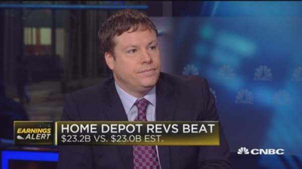 Home Depot beats Street on top and bottom line