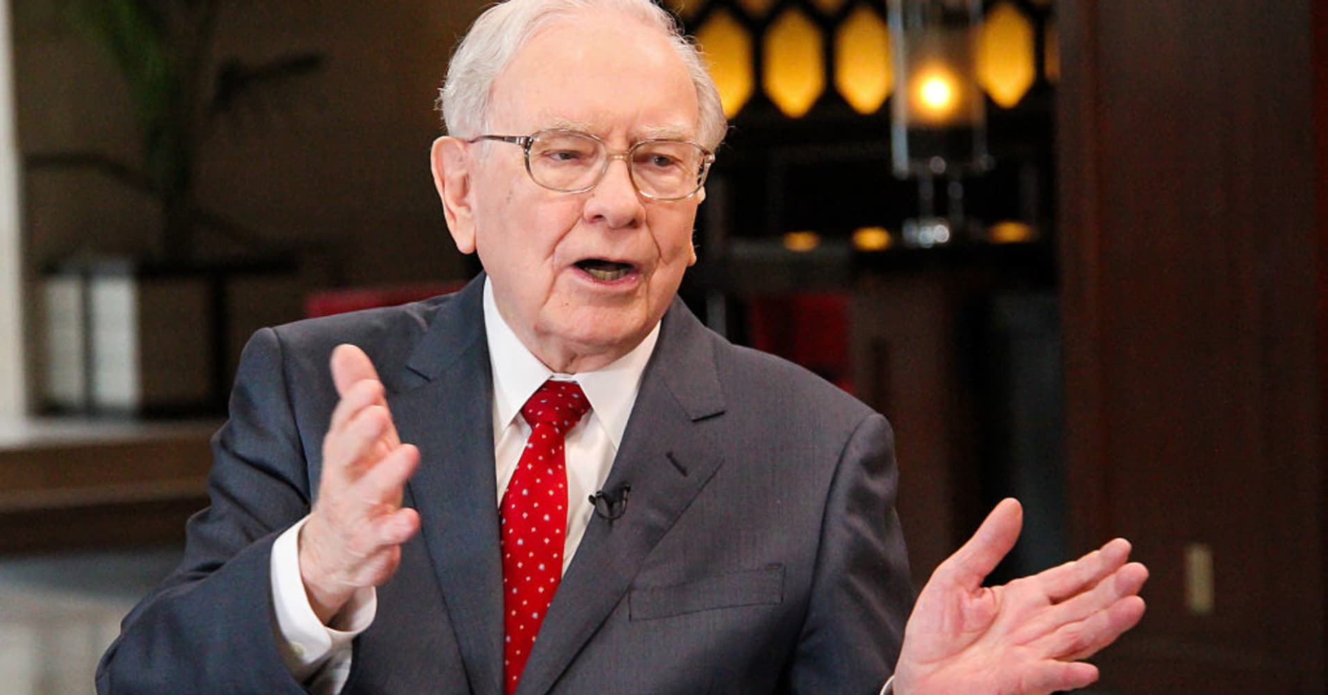 Warren Buffett, chairman and CEO of Berkshire Hathaway, and consistently ranked among the world's wealthiest people, in an interview with Squawk Box on February 29, 2016.