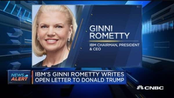 IBM's Ginni Rometty writes open letter to Donald Trump