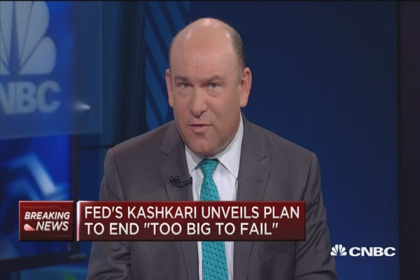 Fed's Kashkari unveil plan to end 'too big to fail'