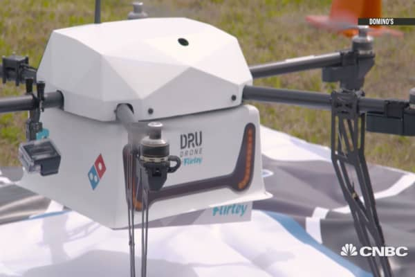 Pizza delivery by drone a reality