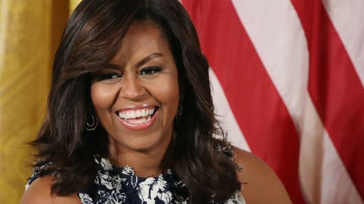Michelle Obama, then first lady