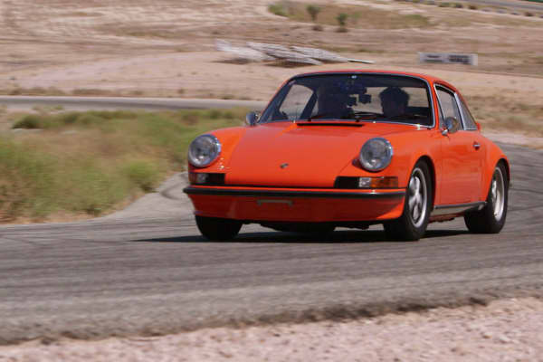 Patrick Dempsey and Jay Leno take a spin in a vintage Porsche.