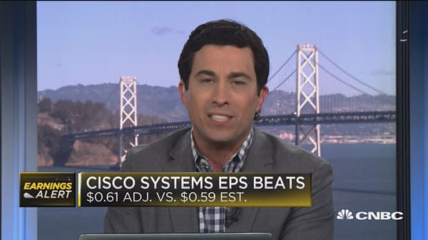 Cisco beats on top and bottom lines
