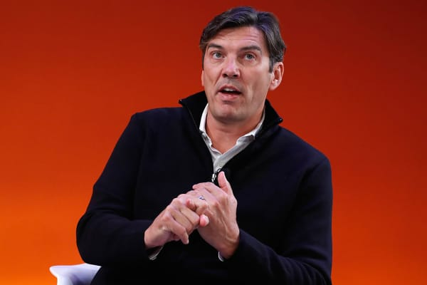 Tim Armstrong speaks onstage during the Building Brands People Love: A Fireside Chat with AOL's Tim Armstrong on the Times Center Stage during 2016 Advertising Week New York on September 26, 2016 in New York City.