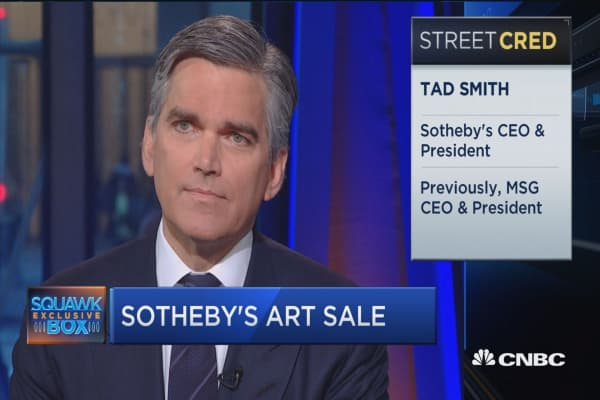 Sotheby's CEO: Good feeling among collectors this week